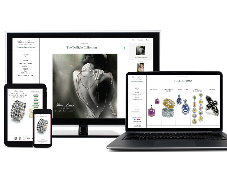 Rina Limor Fine Jewelry Unveils New Responsive Website